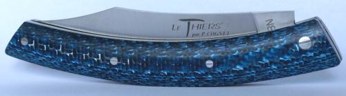 Le Thiers® knife by P. Cognet - Blue Tinted Fiberglass Handle.